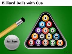 Editable Pool Balls Rack PowerPoint Ppt Slides