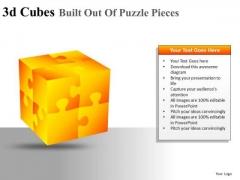 Editable PowerPoint Graphics 3d Cubes Puzzles PowerPoint Clipart Slides