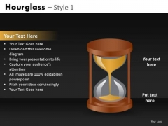 Editable PowerPoint Image Slides With Hourglasses