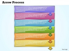 Editable PowerPoint Template Arrow Process 6 Stages Business Plan Image