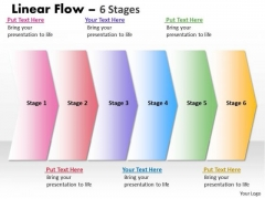 Editable PowerPoint Template Straight Demonstration Of 6 Stages Graphic