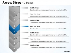 Editable Ppt Background Arrow 7 Stages 1 Project Management PowerPoint 5 Image