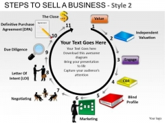 Editable Ppt Templates 11 Steps To Sell A Business PowerPoint Slides