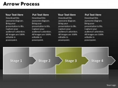 Editable Ppt Theme Arrow Process 4 Stages Business Strategy PowerPoint Graphic