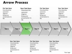 Editable Ppt Theme Arrow Process 7 Power Point Stage Business Communication PowerPoint 4 Image