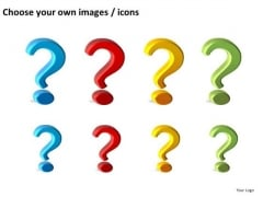 Editable Question Marks Clipart PowerPoint Slides