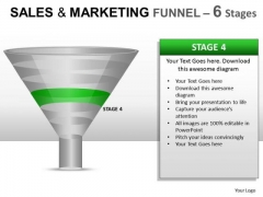Editable Sales And Marketing Funnel 6 PowerPoint Slides And Ppt Diagram Templates
