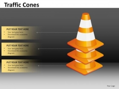 Editable Slides With Stacked Traffic Cones PowerPoint Templates