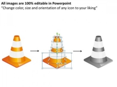 Editable Traffic Cones Ppt PowerPoint Slides And Ppt Diagram Templates