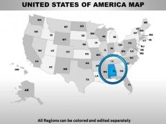 Editable Usa Alabama State PowerPoint Maps