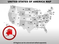 Editable Usa Alaska State PowerPoint Maps