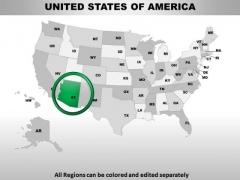Editable Usa Arizona State PowerPoint Maps