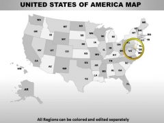 Editable Usa Delaware State PowerPoint Maps