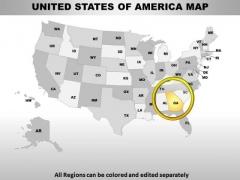 Editable Usa Georgia State PowerPoint Maps