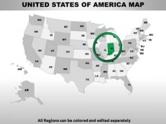 Editable Usa Indiana State PowerPoint Maps