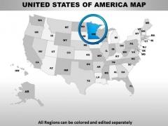 Editable Usa Minnesota State PowerPoint Maps
