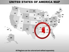 Editable Usa Mississippi State PowerPoint Maps