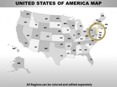 Editable Usa New Jersey State PowerPoint Maps