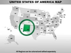 Editable Usa New Mexico State PowerPoint Maps