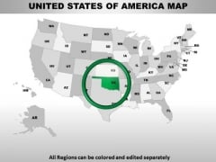 Editable Usa Oklahoma State PowerPoint Maps