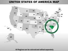 Editable Usa South Carolina State PowerPoint Maps