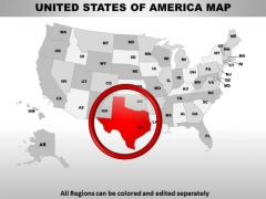 Editable Usa Texas State PowerPoint Maps