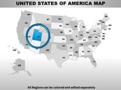 Editable Usa Utah State PowerPoint Maps
