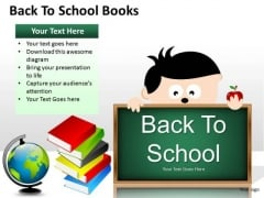 Education Back To School Books PowerPoint Slides And Ppt Graphics Templates