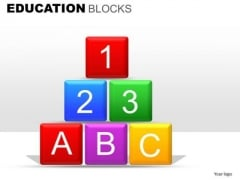 Education Building Blocks With 1 2 3 A B C Text PowerPoint Slide Templates