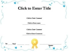 Education Recognition Certificate PowerPoint Templates