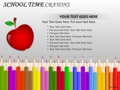 Education School Time Crayons PowerPoint Slides And Ppt Templates