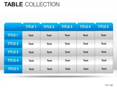Education Table Collection PowerPoint Slides And Ppt Diagram Templates