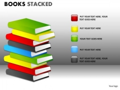 Educational Books PowerPoint Ppt Templates