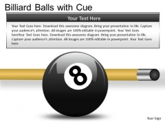 Eight Ball With Cue PowerPoint Slides And Ppt Diagram Templates