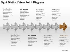 Eight Distinct View Point Diagram Business Flow Chart PowerPoint Free Slides