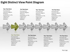 Eight Distinct View Point Diagram Business Process Flow Chart PowerPoint Slides