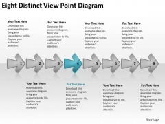 Eight Distinct View Point Diagram Business Vision Flowcharts PowerPoint Templates