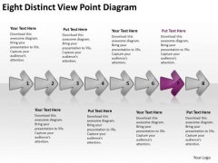 Eight Distinct View Point Diagram Chart Flow Chart PowerPoint Free Slides