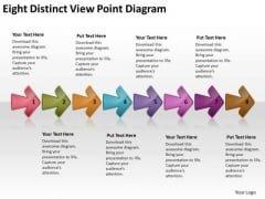 Eight Distinct View Point Diagram Of Business Plan PowerPoint Templates