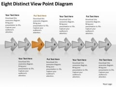 Eight Distinct View Point Diagram Vision Flowcharts PowerPoint Templates