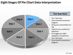 Eight Stages Of Pie Chart Data Interpretation Business Plan PowerPoint Templates
