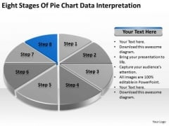 Eight Stages Of Pie Chart Data Interpretation Detailed Business Plan PowerPoint Templates