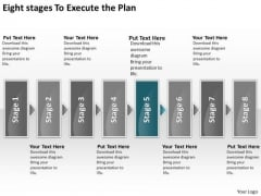 Eight Stages To Execute The Plan Business Sales Process Flow Chart PowerPoint Slides