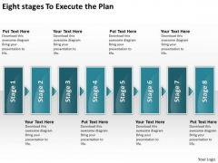 Eight Stages To Execute The Plan Diagram Of Business PowerPoint Templates