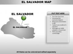 El Salvador Country PowerPoint Maps