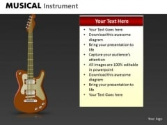 Electric Guitar PowerPoint Template Ppt Slide With Electric Guitar