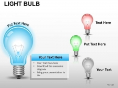 Electricity Light Bulb PowerPoint Slides And Ppt Diagram Templates