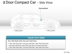 Elegance 2 Door Gray Car Side PowerPoint Slides And Ppt Diagram Templates