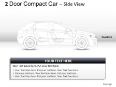 Elegance Expensive 2 Door Gray Car Side PowerPoint Slides And Ppt Diagram Templates