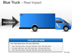 Element Blue Truck Side View PowerPoint Slides And Ppt Diagram Templates